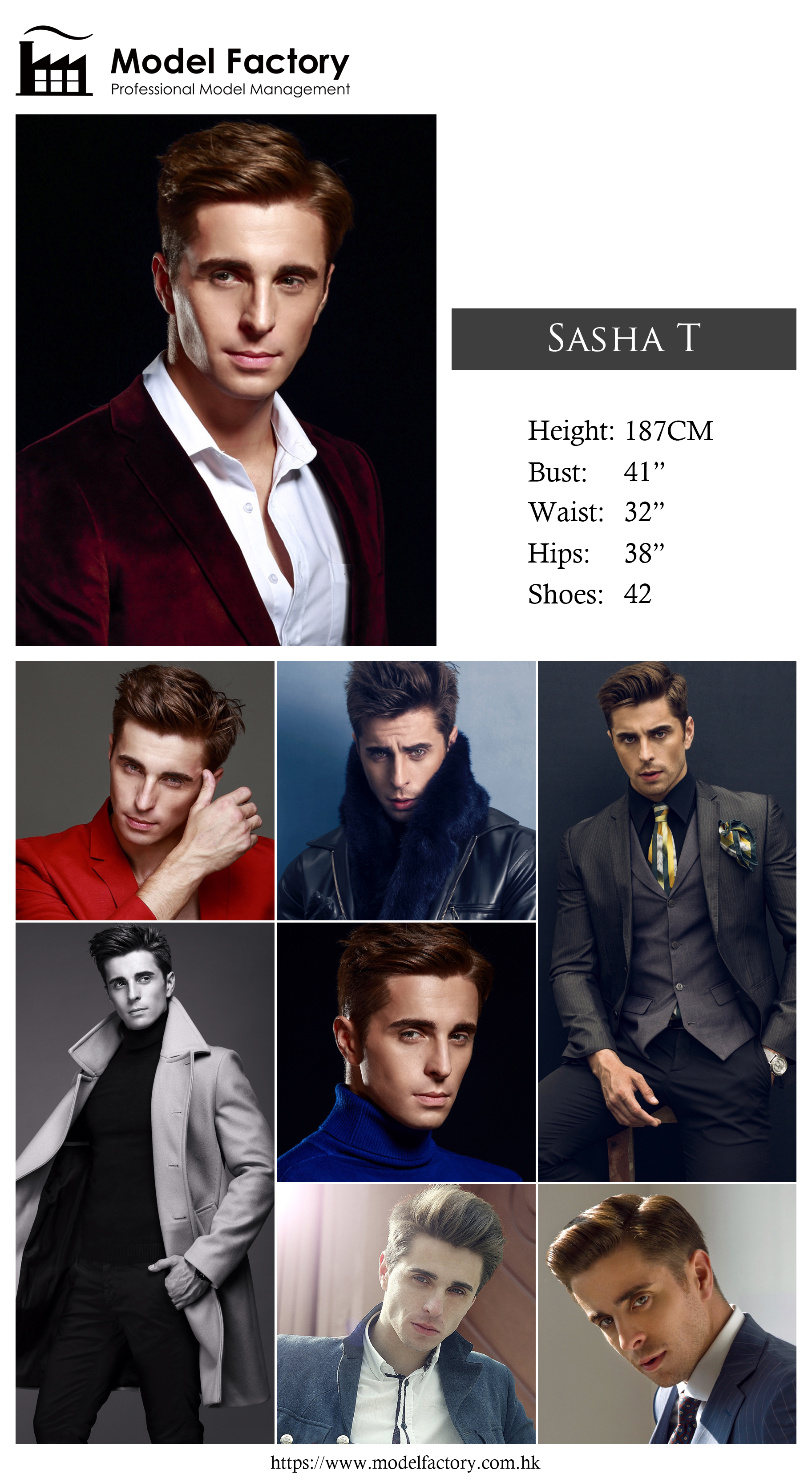 Model Factory Caucasian Male Model SashaT