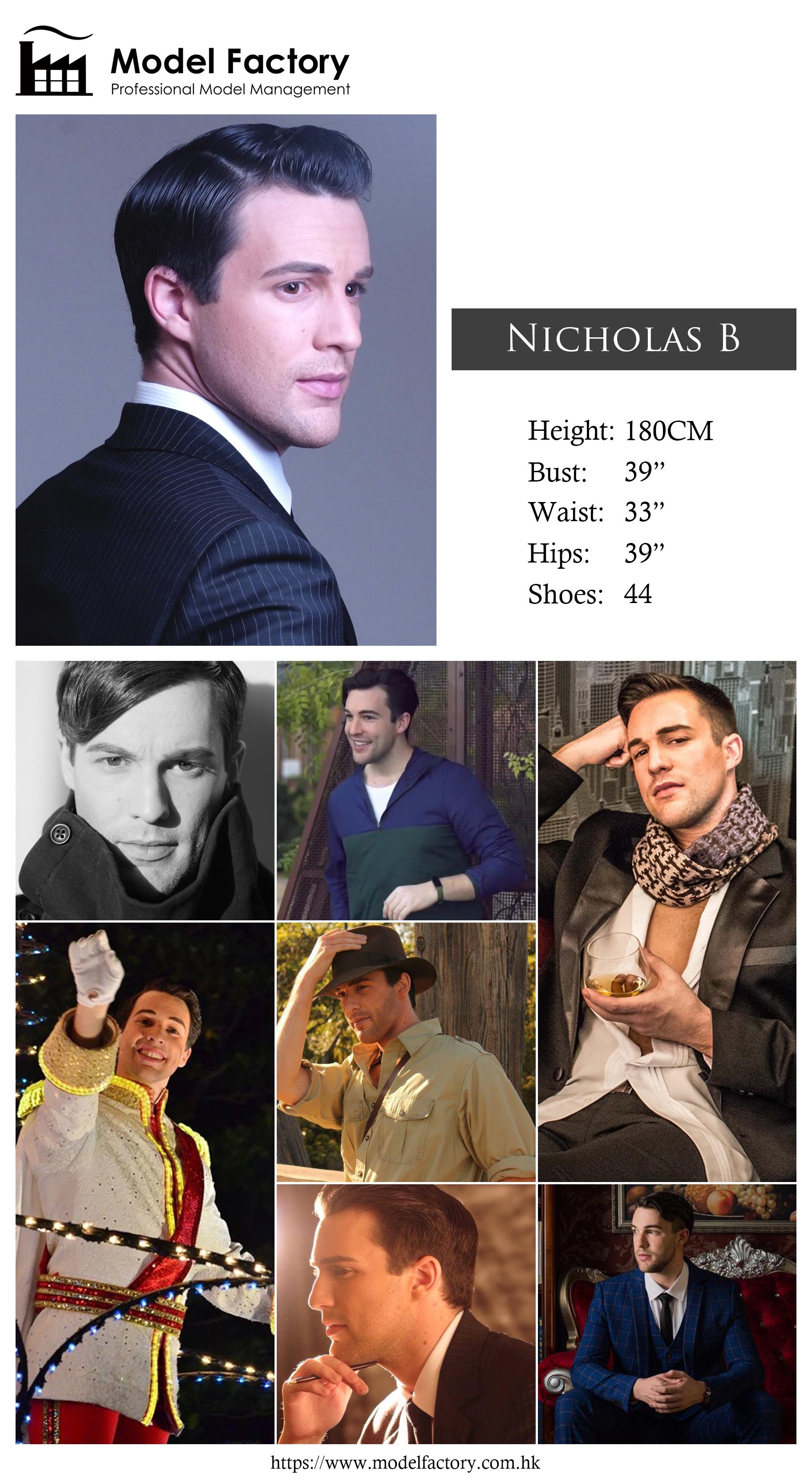 Model Factory Caucasian Male Model NicholasB