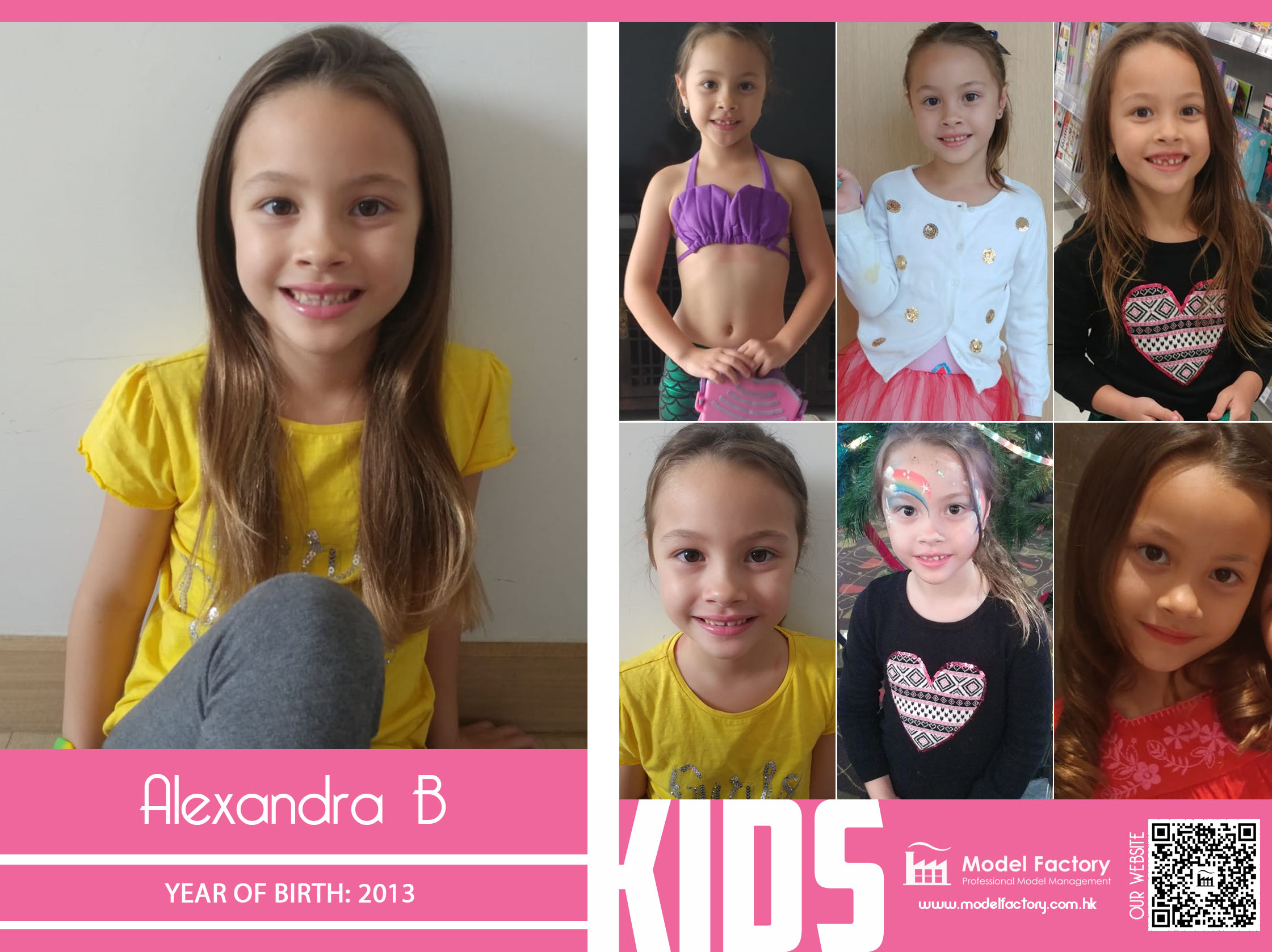 Model Factory Caucasian Kids Alexandra B