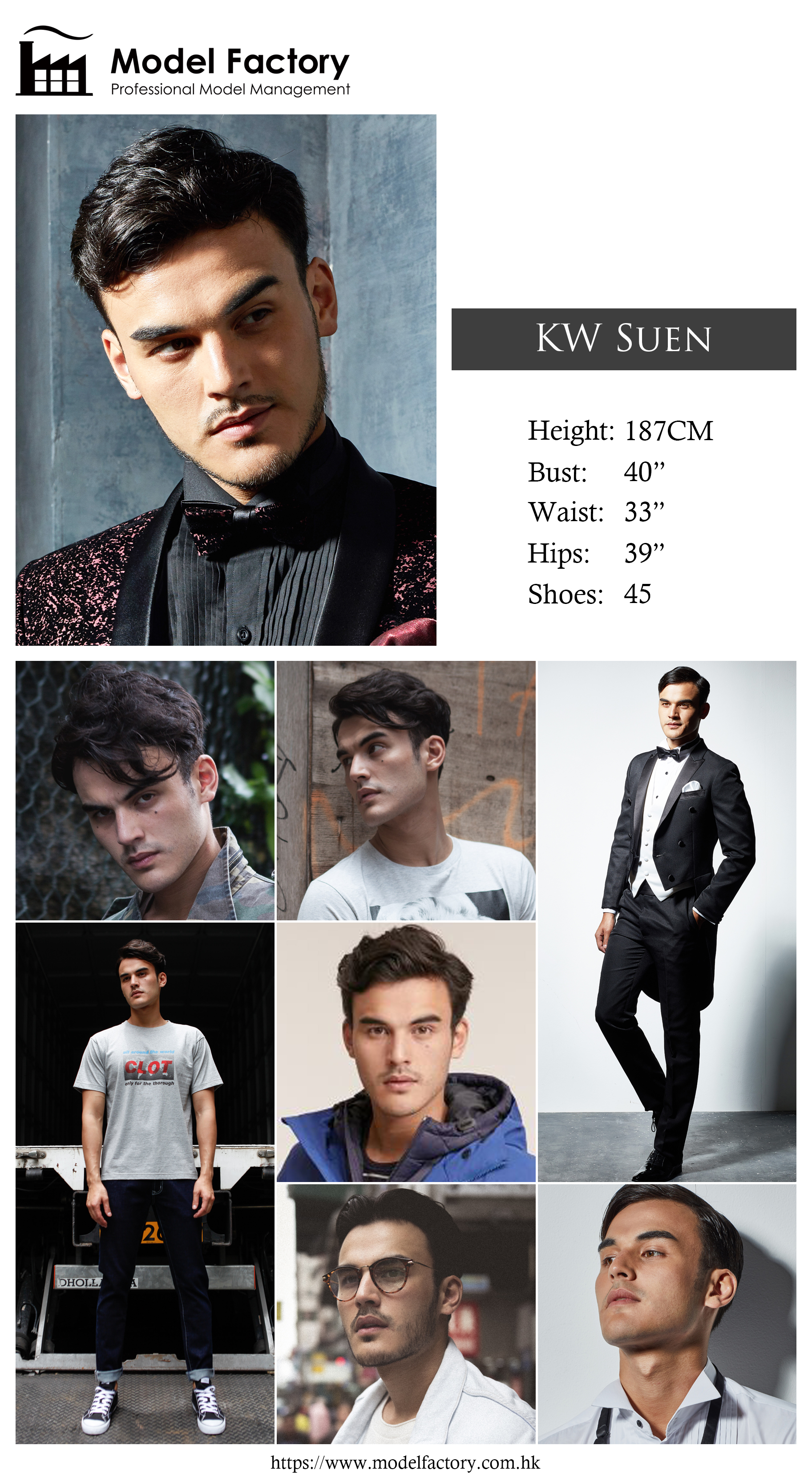 Model Factory Caucasian Male Model KWSuen