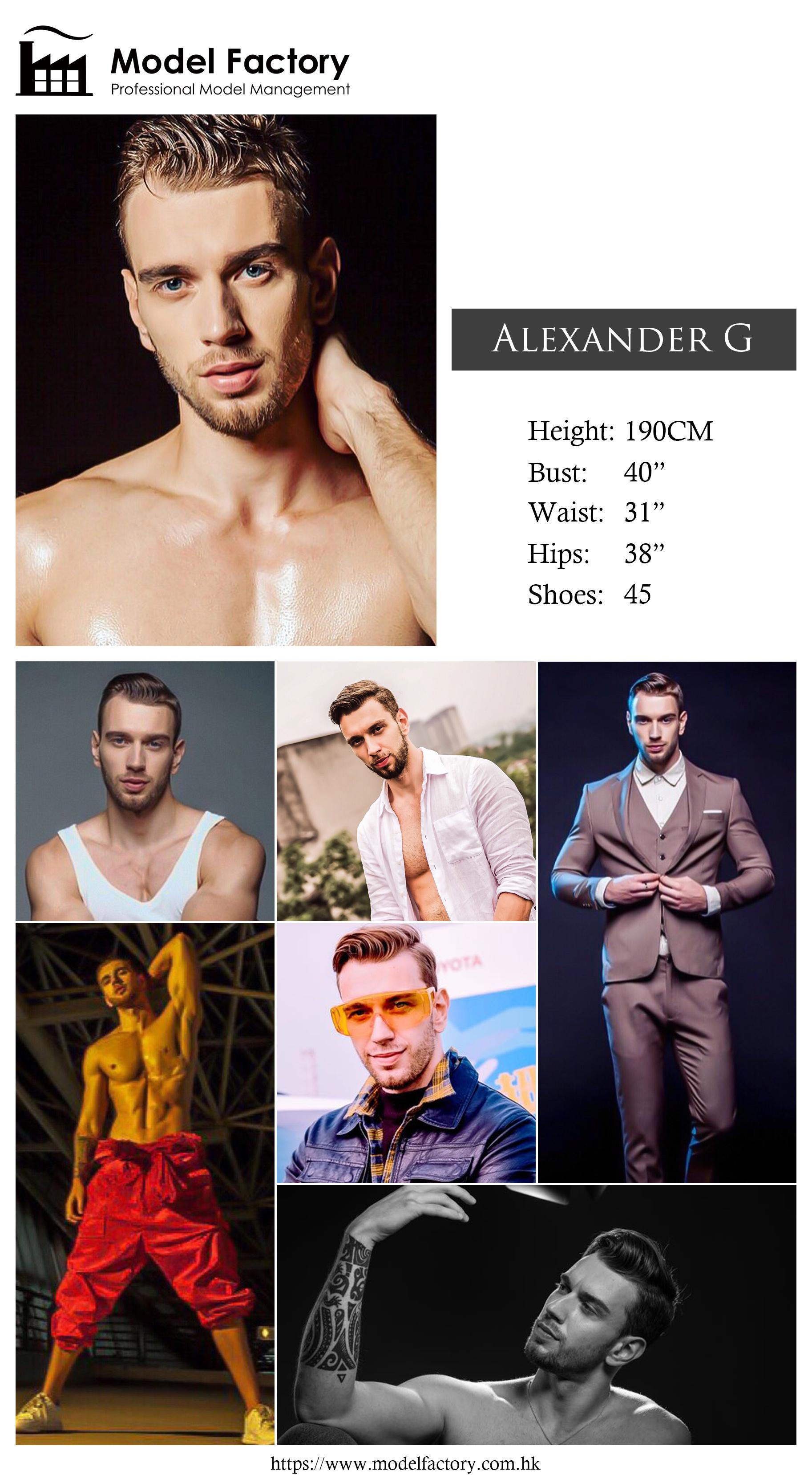 Model Factory Caucasian Male Model AlexanderG