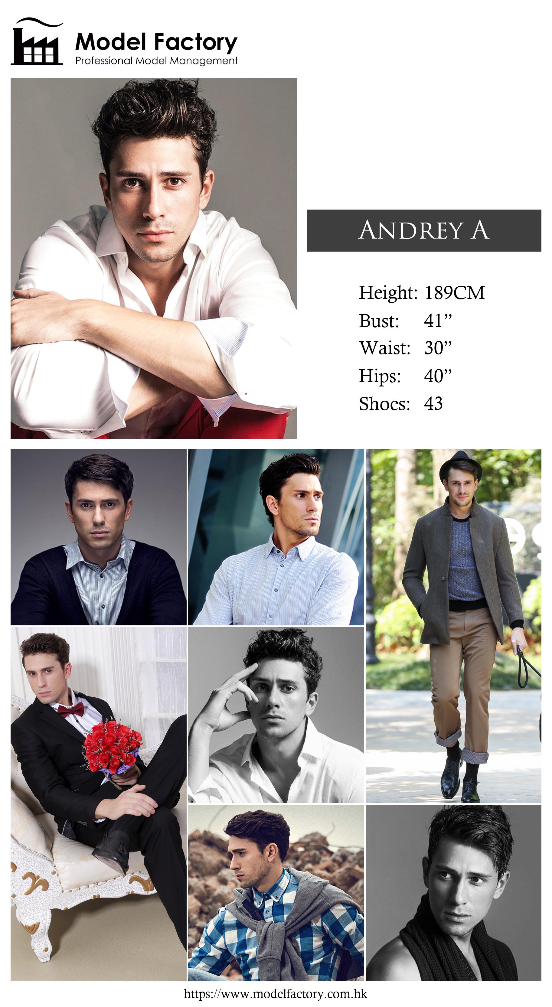 Model Factory Caucasian Male Model AndreyA
