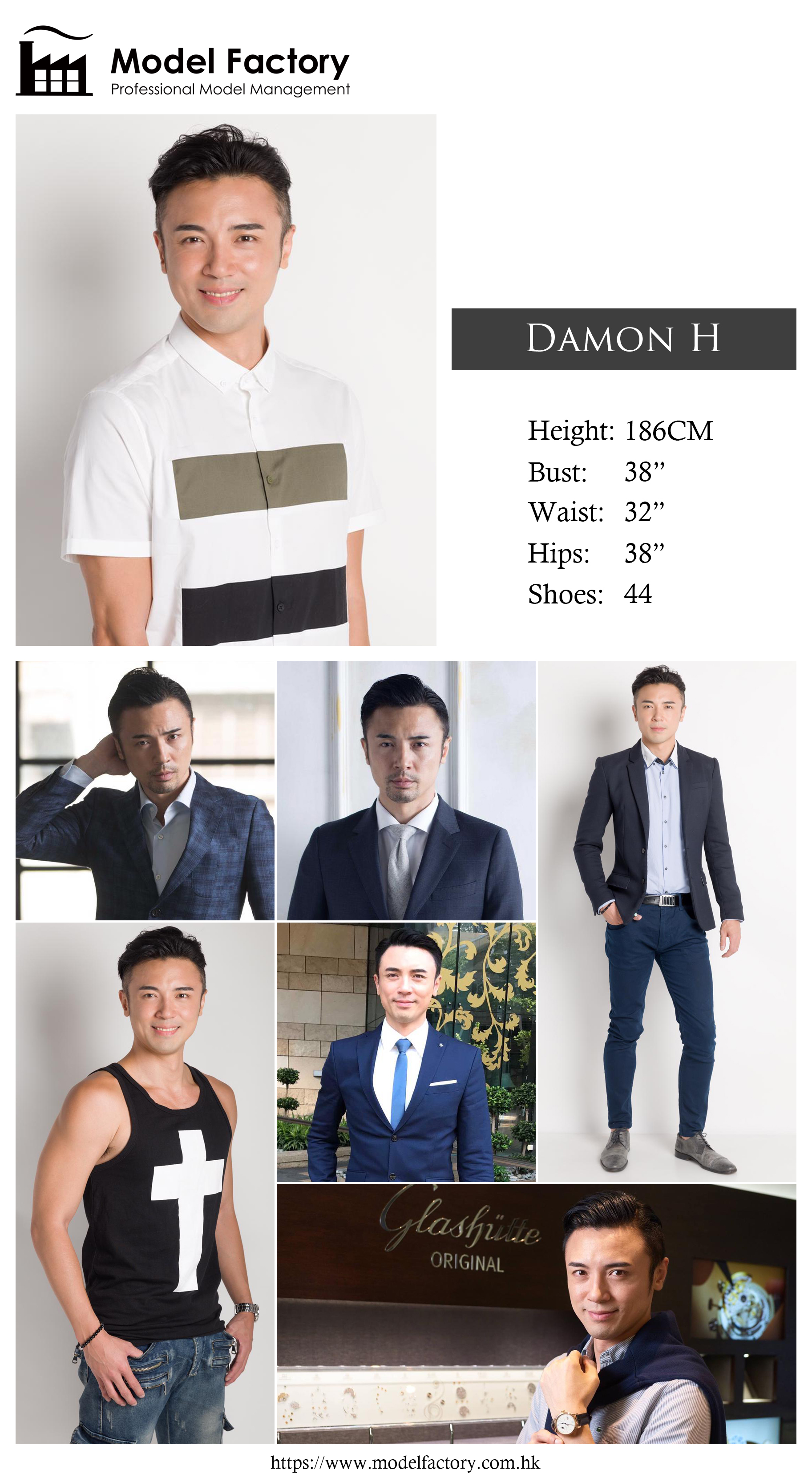 Model Factory Hong Kong Male Model DamonH