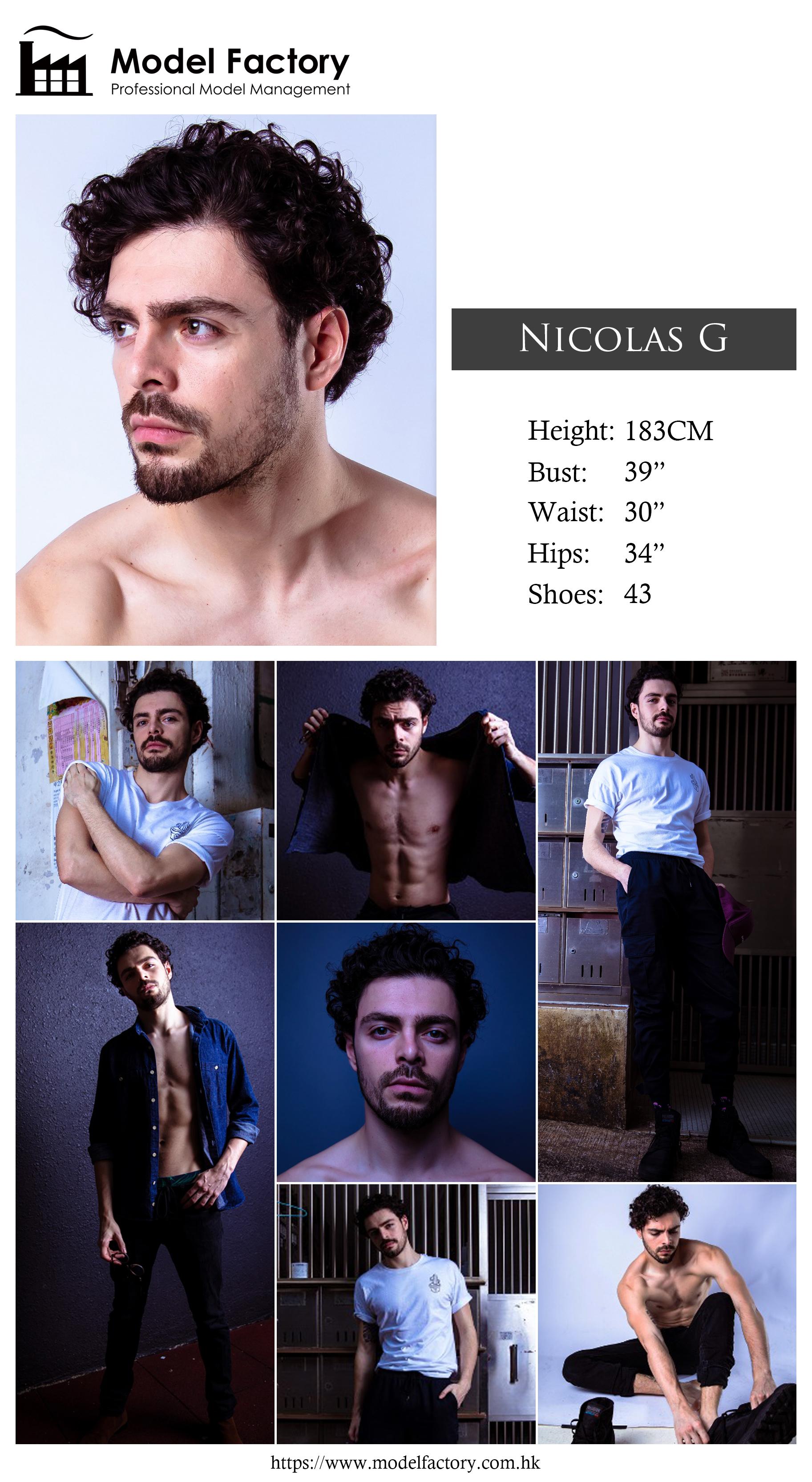 Model Factory Caucasian Male Model NicolasG