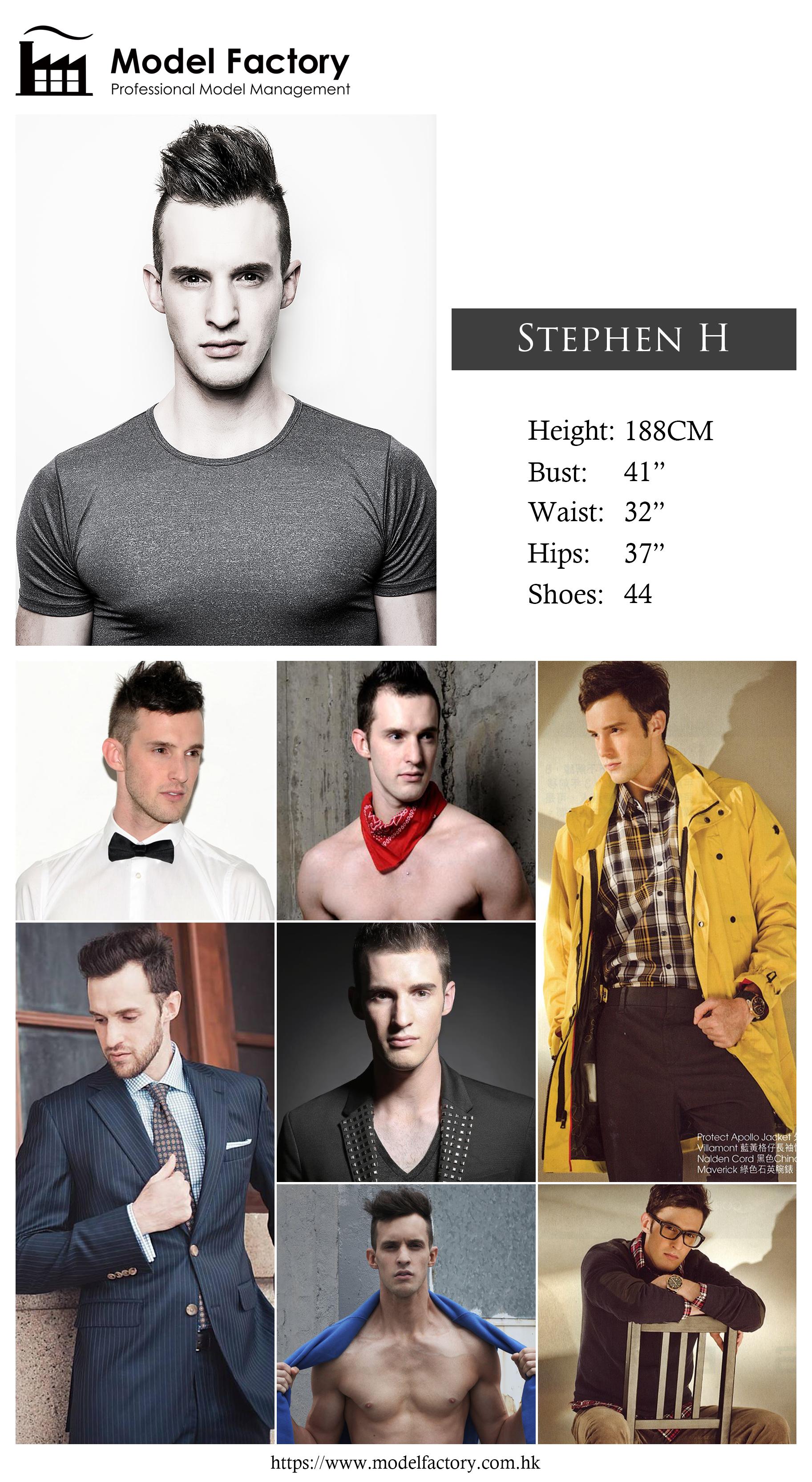 Model Factory Caucasian Male Model StephenH