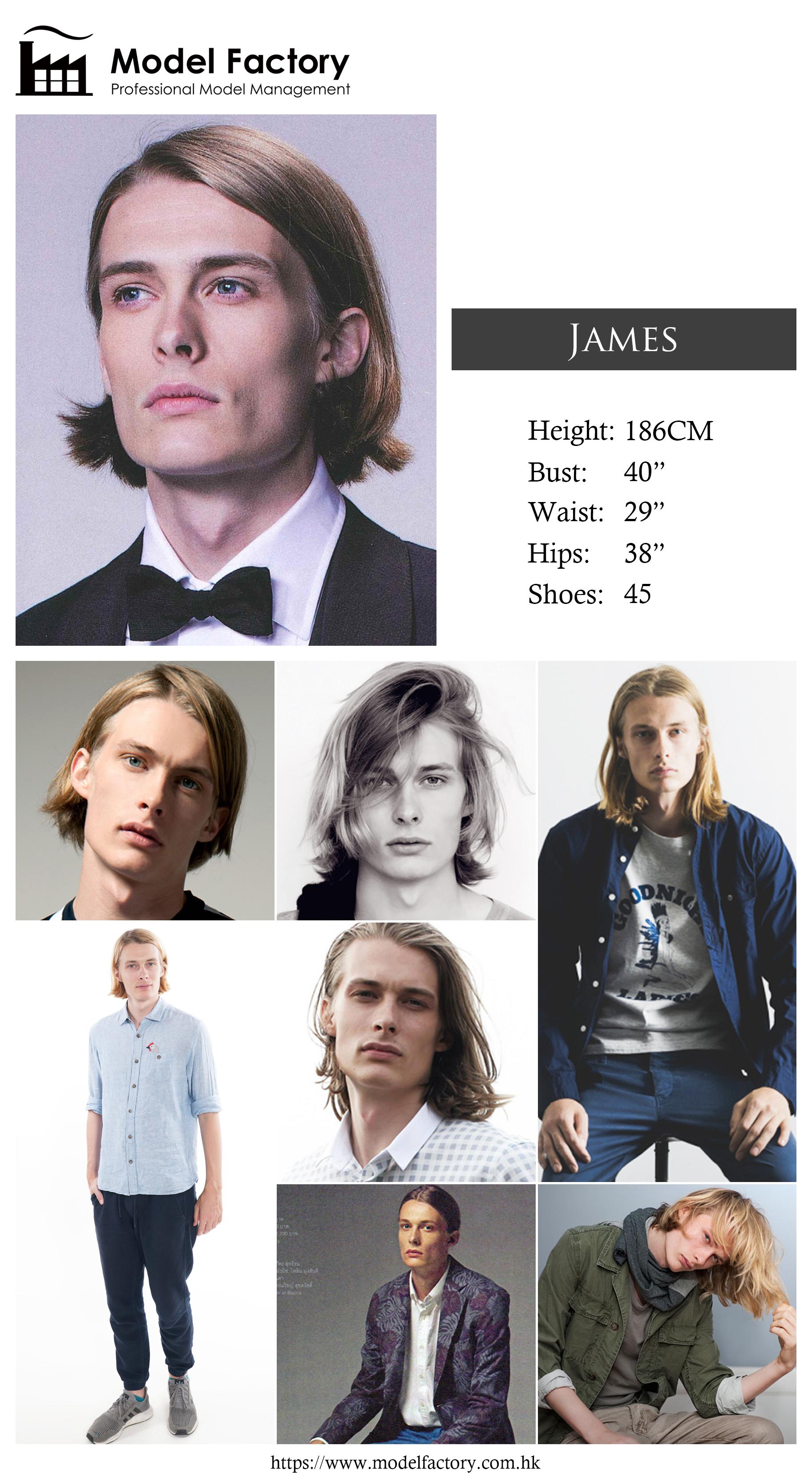 Model Factory Caucasian Male Model James