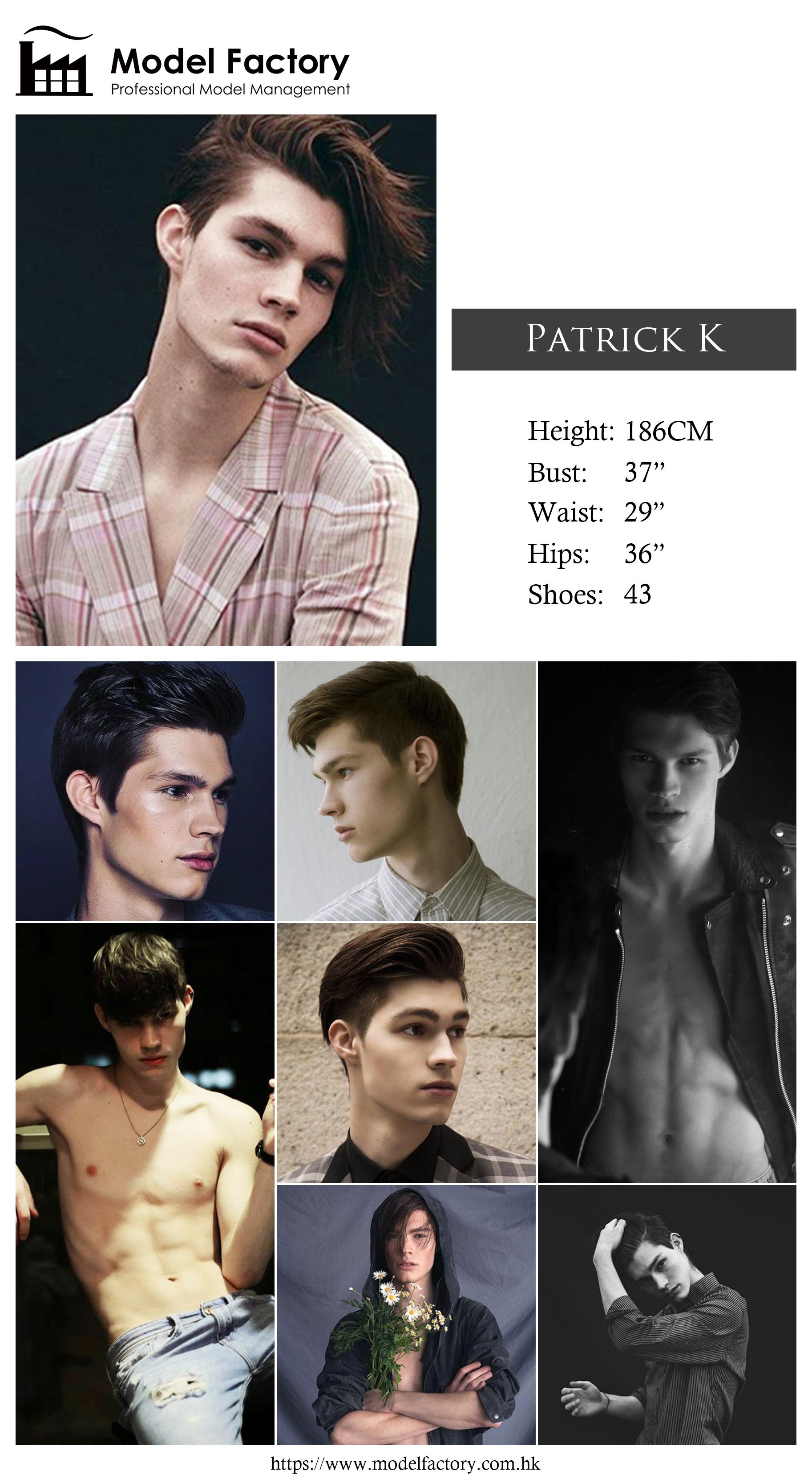 Model Factory Caucasian Male Model PatrickK