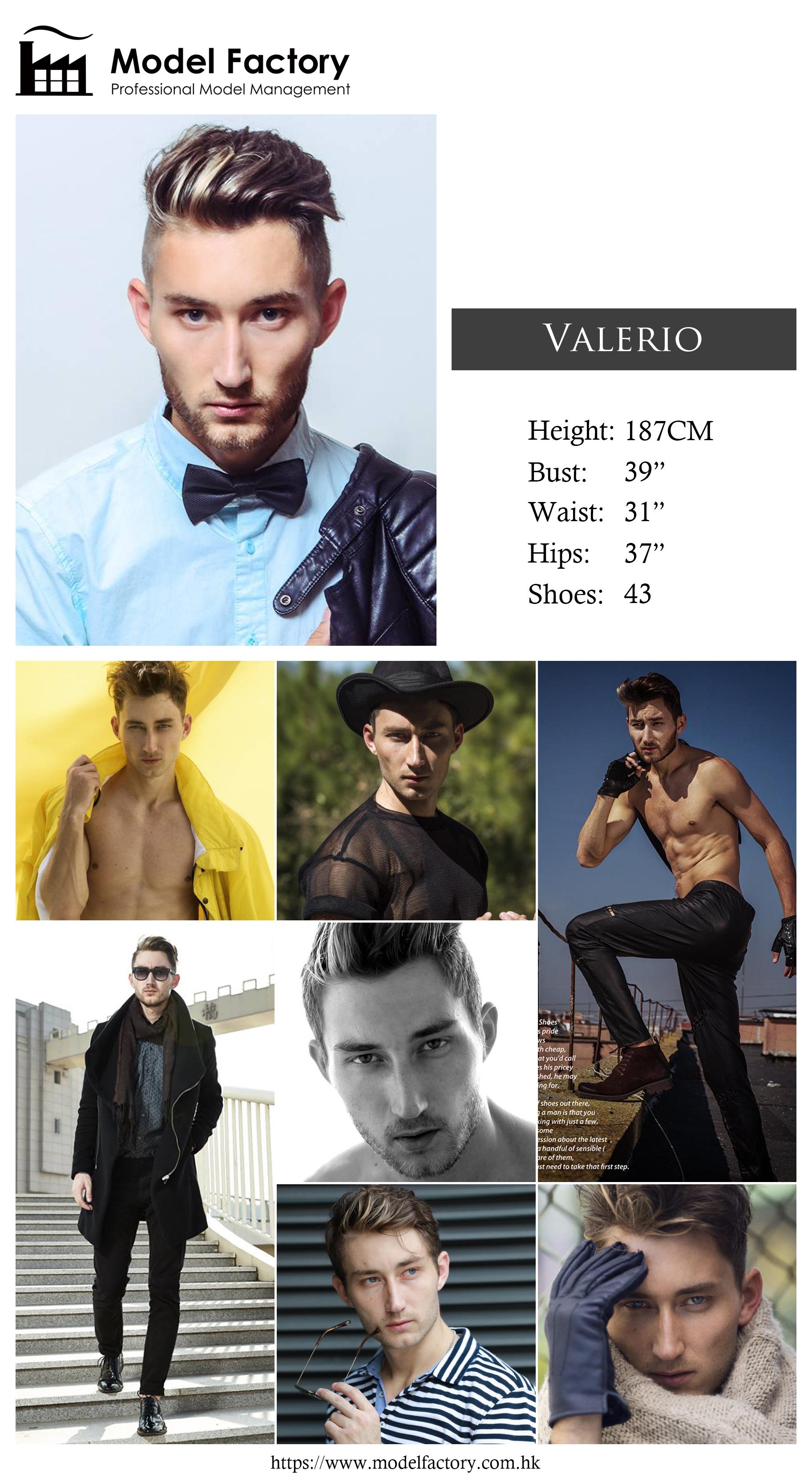 Model Factory Caucasian Male Model Valerio