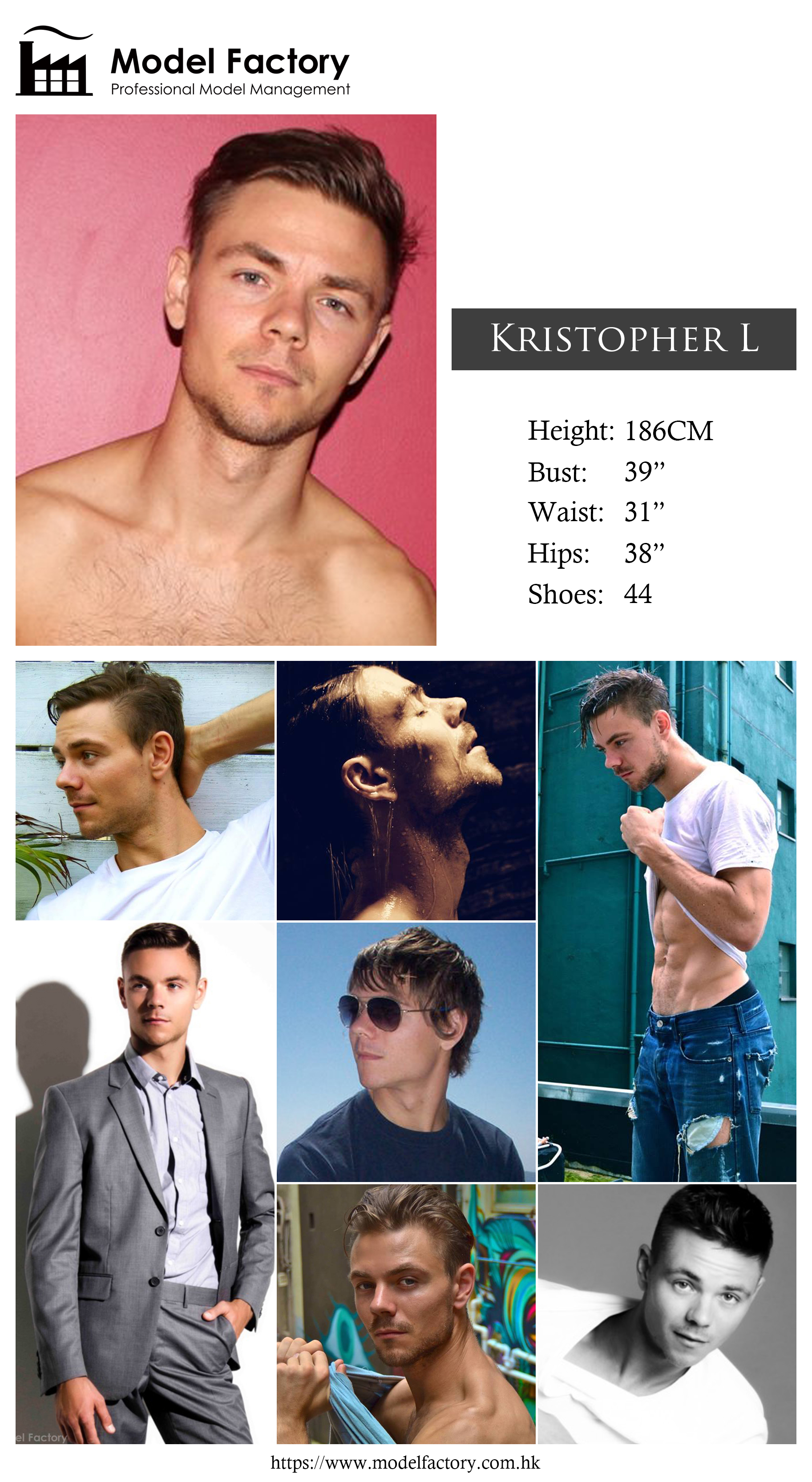 Model Factory Caucasian Male Model KristopherL