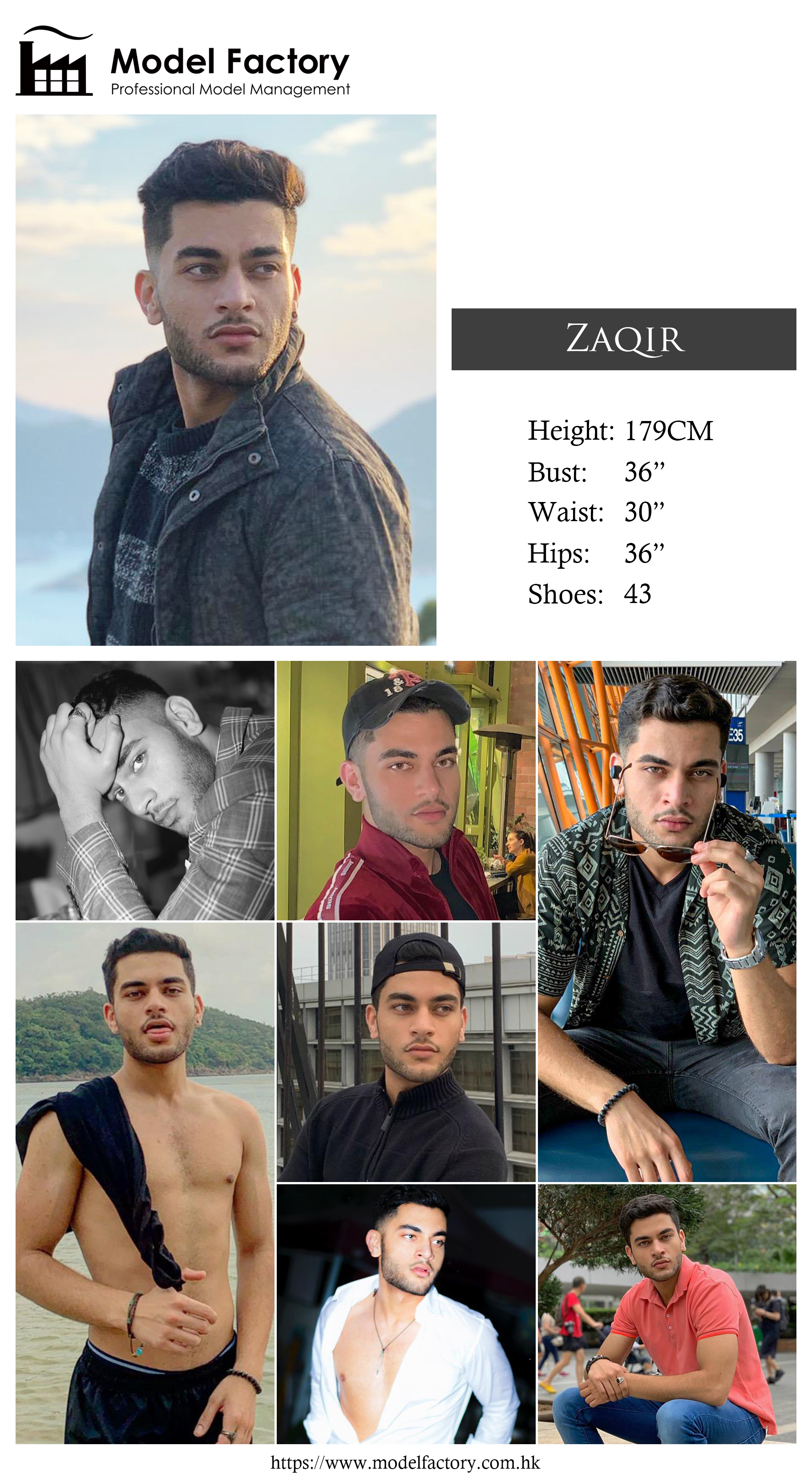 Model Factory Caucasian Male Model Zaqir