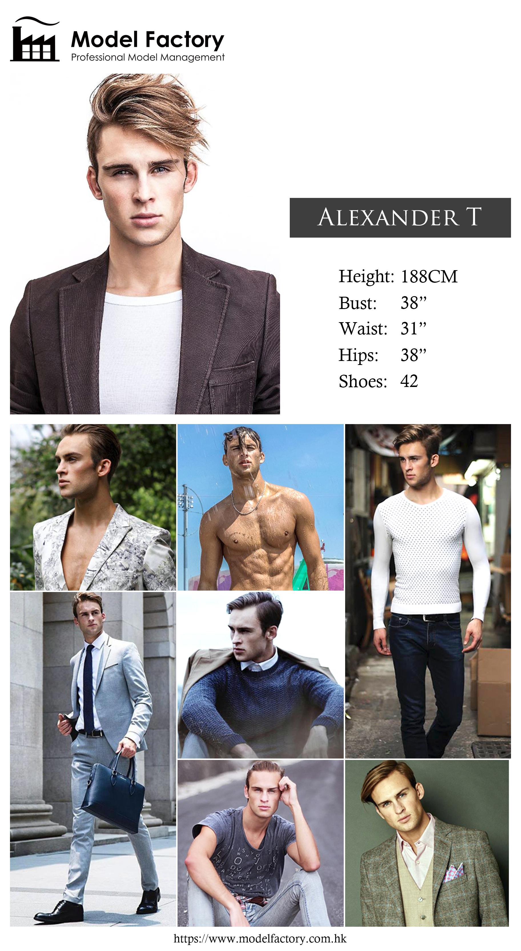 Model Factory Caucasian Male Model AlexanderT