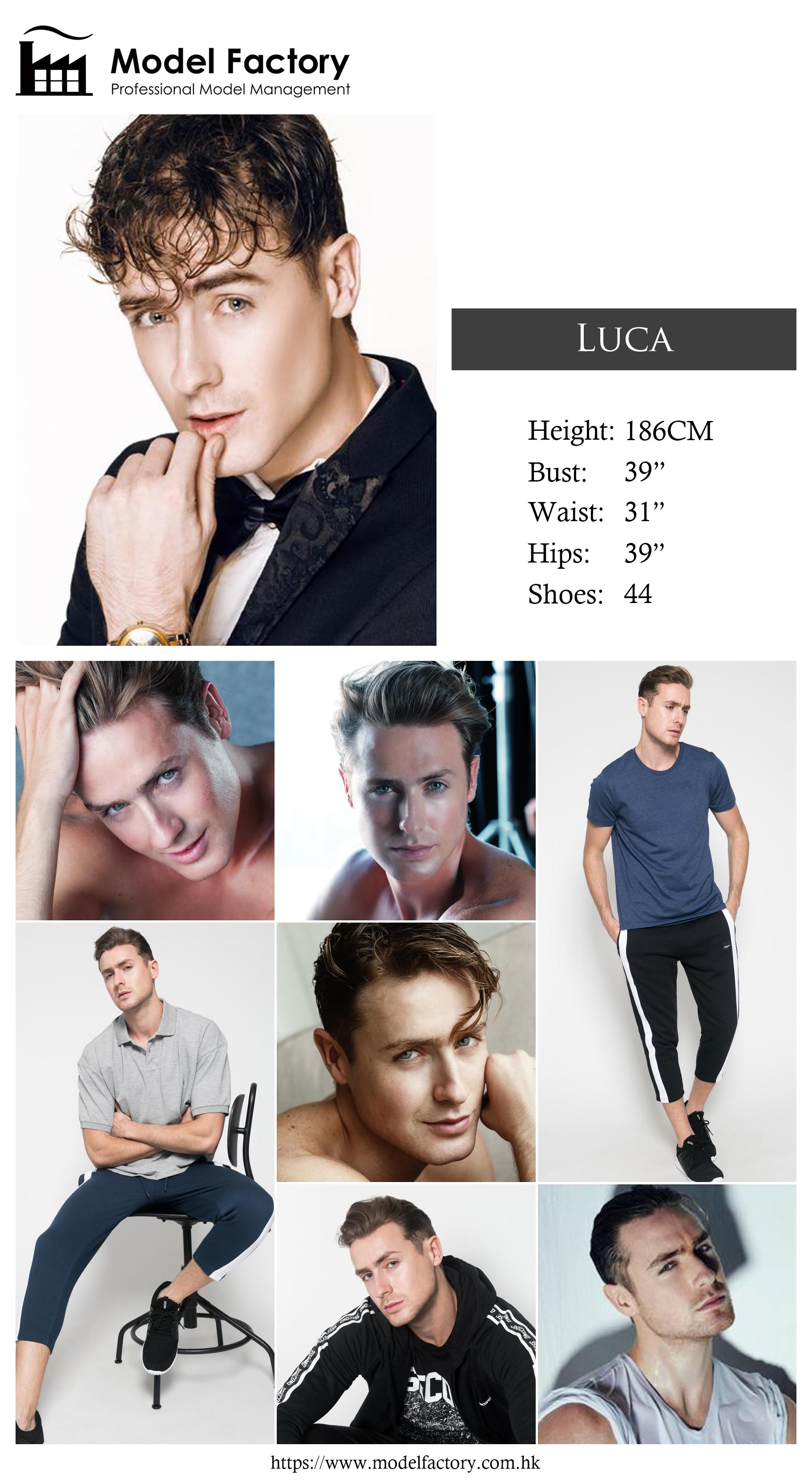 Model Factory Caucasian Male Model Luca
