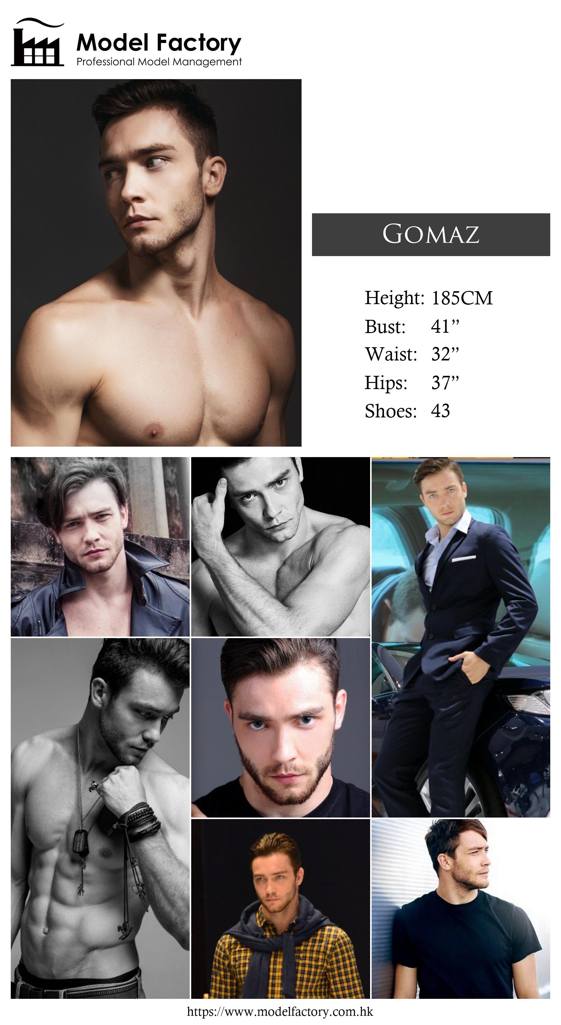 Model Factory Caucasian Male Model Gomaz