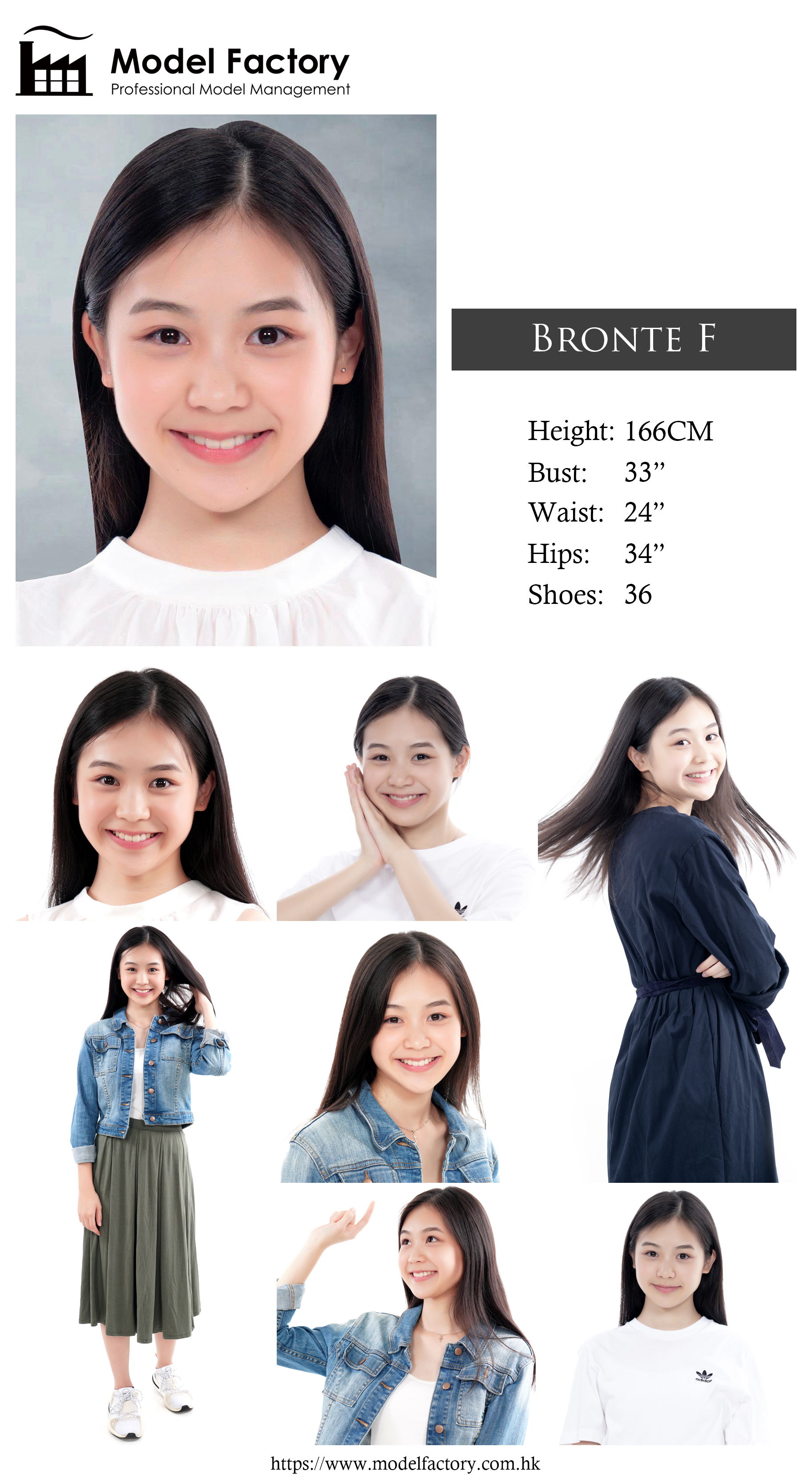 Model Factory Hong Kong Female Model BronteF