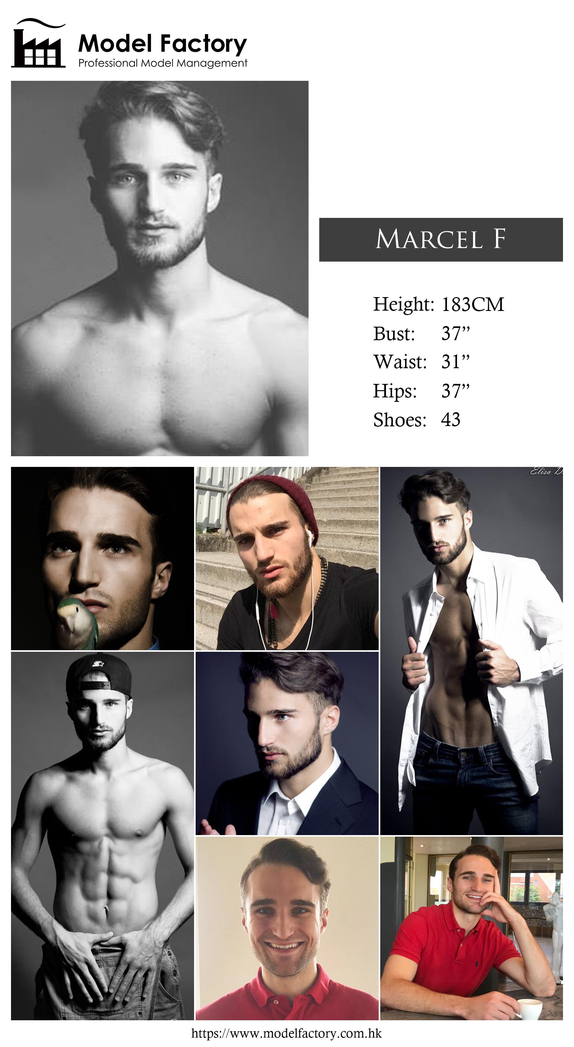 Model Factory Caucasian Male Model MarcelF
